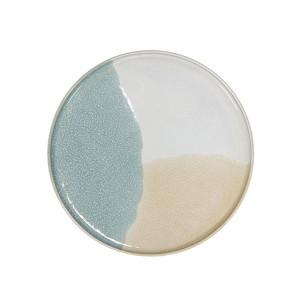 Farfurie ceramica crem si verde 18,5 cm Gallery HK Living