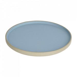 Farfurie intinsa gri/albastra din ceramica 24 cm Midori Kave Home