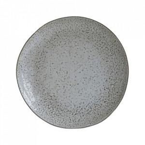 Farfurie intinsa gri/albastra din ceramica 27 cm Rustic House Doctor