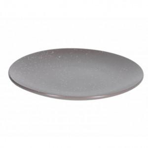 Farfurie intinsa gri inchis din ceramica 27 cm Aratani Kave Home