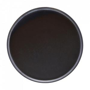 Farfurie intinsa neagra din lut 25,5 cm Aton House Doctor