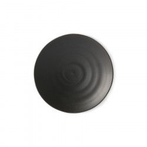 Farfurie intinsa neagra din portelan 16 cm Ilona HK Living