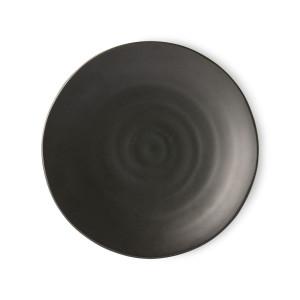 Farfurie intinsa neagra din portelan 25 cm Kyoto HK Living