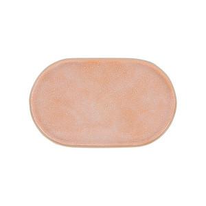 Farfurie ovala din ceramica roz Gallery Side HK Living