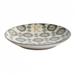 Farfurie pentru desert multicolora din ceramica 20 cm K Letter Nordal