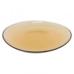 Farfurie portocalie din sticla 26,3 cm Nausica La Forma