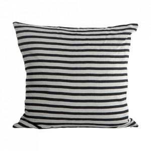 Fata de perna alba/neagra din in 50x50 cm Zebra House Doctor