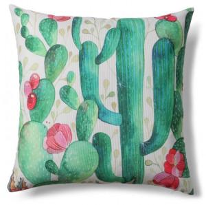 Fata de perna multicolora din poliester 45x45 cm Cactus La Forma