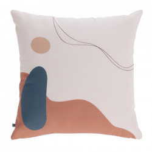 Fata de perna pentru exterior multicolora din poliester 45x45 cm Abish Kave Home