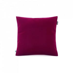 Fata de perna rosu burgund din catifea 45x45 cm Mood Mumla
