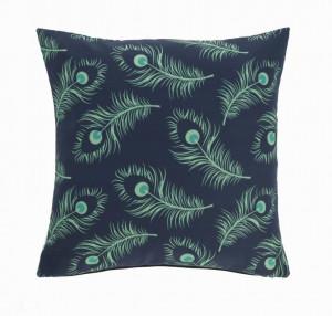 Fata de perna verde/albastra din textil impermeabil 45x45 cm Ekene La Forma