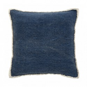 Fata perna albastra din bumbac 45x45 cm Canvas Nordal