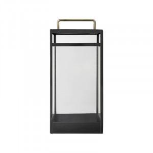 Felinar transparent/negru din sticla si fier 52 cm Pure Nordic Cozy Living Copenhagen
