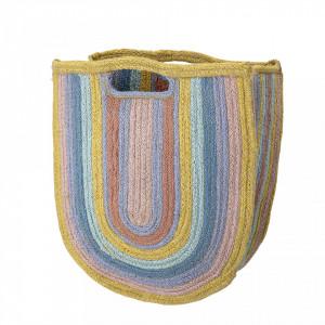 Geanta multicolora din iuta June Bloomingville