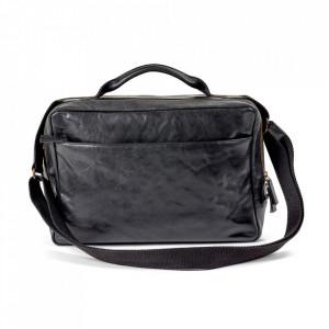 Geanta neagra din piele pentru laptop 26x38 cm Ales Serax