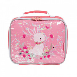 Geanta roz din poliester Glitter Bunny A Little Lovely Company