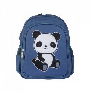 Ghiozdan multicolor din poliester Panda A Little Lovely Company