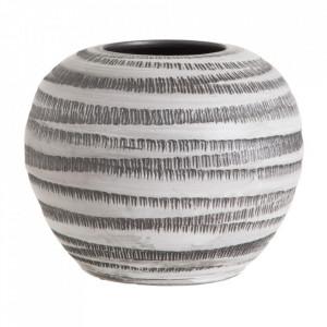 Ghiveci alb/negru din ceramica 30 cm Marinas Ixia