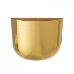 Ghiveci auriu din metal pentru perete 10x24 cm Annalee Bloomingville