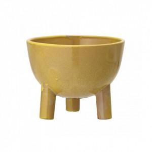 Ghiveci galben din ceramica 15 cm Pomello Bloomingville