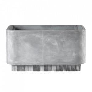 Ghiveci gri din ciment 42x84 cm Highlands Bolia
