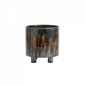 Ghiveci maro din ceramica 15 cm Dark Brown Art Mini Nordal