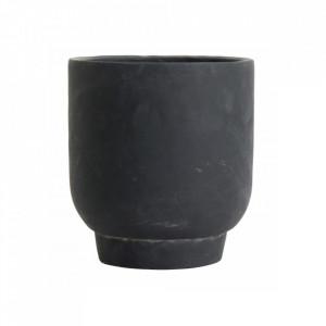 Ghiveci negru din ciment 20 cm Ivon Nordal