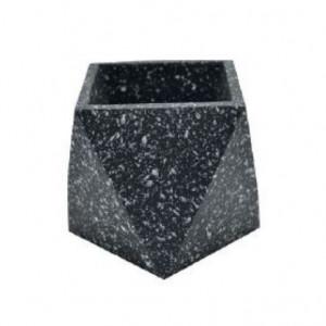 Ghiveci negru din terrazzo 9 cm Muzz Zago