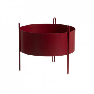 Ghiveci rosu din metal 40 cm Pidestall Medium Woud