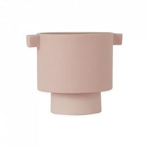 Ghiveci roz din ceramica 10 cm Inka Kana Oyoy
