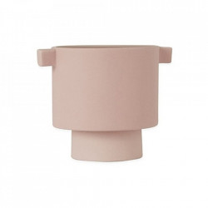 Ghiveci roz din ceramica 11 cm Inka Kana Oyoy