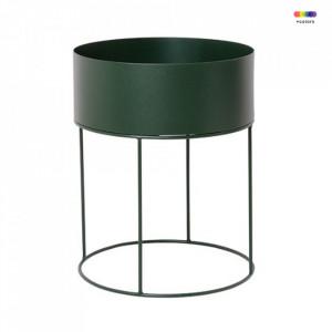 Ghiveci verde cu suport din metal 40 cm Bitt Green Ferm Living