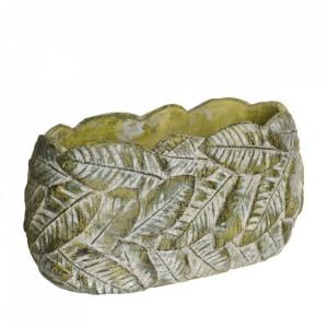 Ghiveci verde din ciment 14,5x29 cm Usakos Ixia