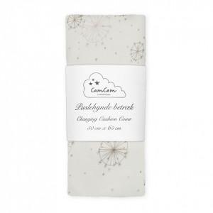 Husa din bumbac organic pentru salteaua de infasat 50x65 cm Melissa Dandelion Natural Cam Cam