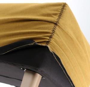 Husa pentru bancheta galbena din textil Lydia Mustard La Forma