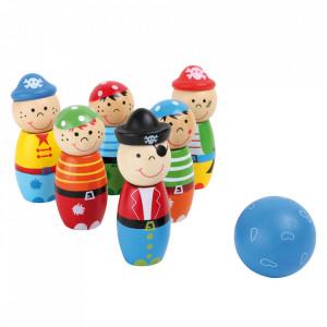 Joc bowling 7 piese din lemn Pirates Small Foot