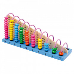 Jucarie motrica multicolora din lemn si metal Abacus Small Foot