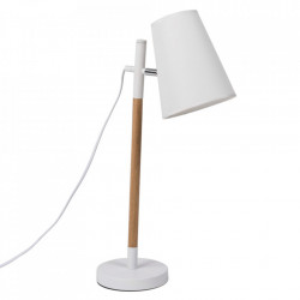 Lampa birou alba din lemn si metal 59 cm Deva Somcasa