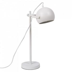 Lampa birou alba din metal 50 cm Riosa Somcasa