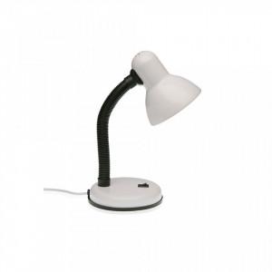 Lampa birou alba/neagra din metal 30 cm Study Lamp White Versa Home