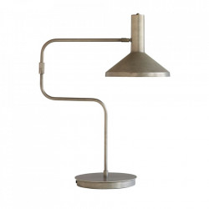 Lampa birou argintie din fier si alama 66 m Seoka Monograph