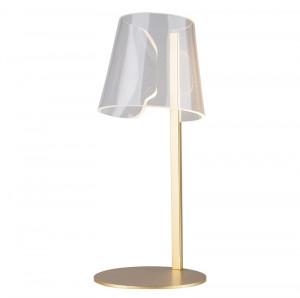 Lampa birou din plastic si metal 45 cm Seda Gold Maxlight