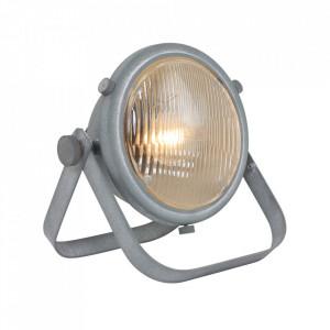 Lampa birou gri din metal 24 cm Nova Steinhauer
