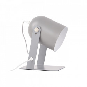 Lampa birou gri din metal 29 cm Yan Brilliant