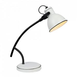Lampa birou neagra/alba din metal 38 cm Zumba Candellux