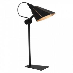 Lampa birou neagra/aurie din metal 45 cm Zambia Desk Aldex
