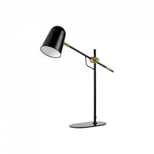 Lampa birou neagra/maro alama din metal 45 cm Bureau Bolia