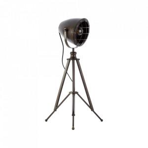 Lampa birou negru otel din metal si sticla 66 cm Anit Brilliant