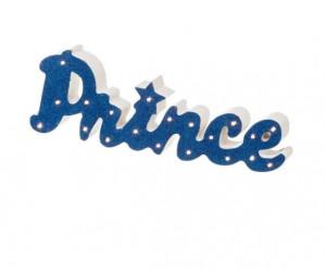 Lampa de veghe alb/albastru din MDF Prince Unimasa