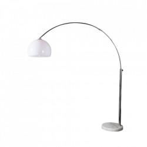 Lampadar ajustabil alb din marmura si plastic 175-205 cm Big Bow Invicta Interior